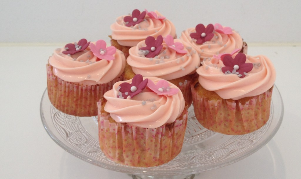 Rabarber cupcakes