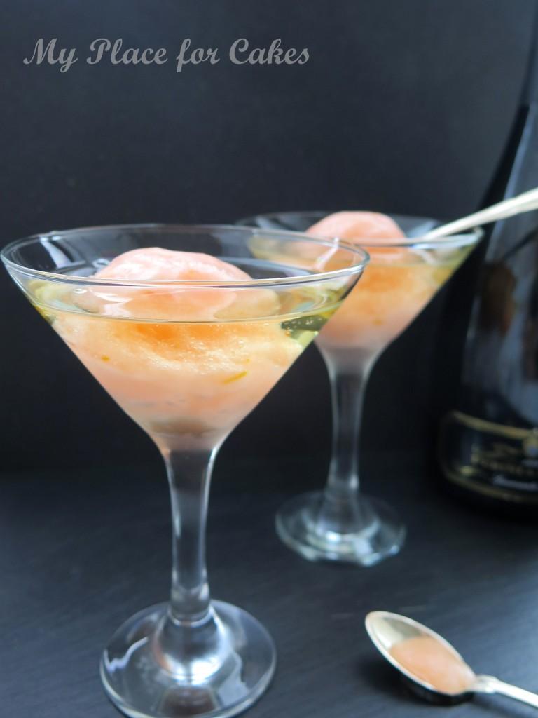 frozen aperol spritz float