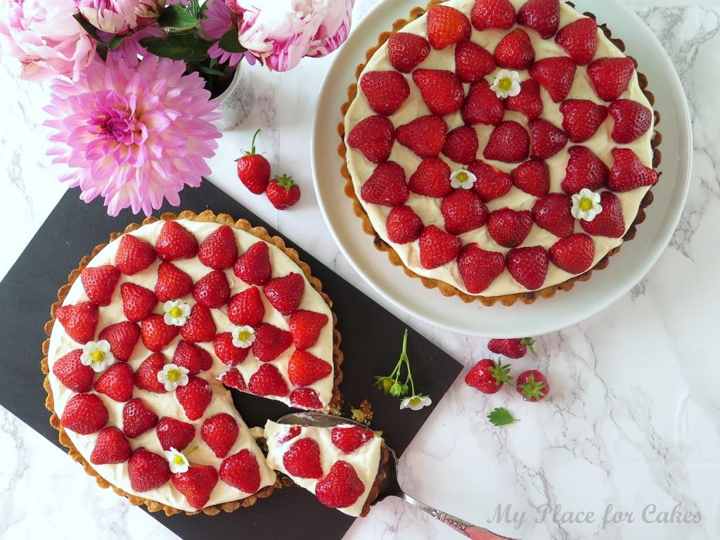Store jordbærtærter
