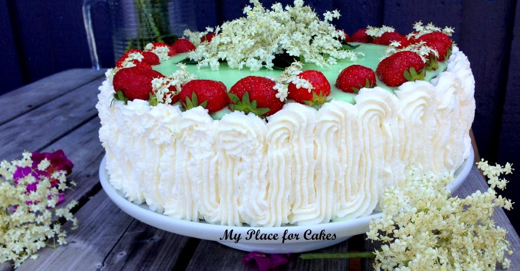 lagkage med hyldeblomst og jordbær19