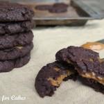 Chokolade cookies med dulce de leche