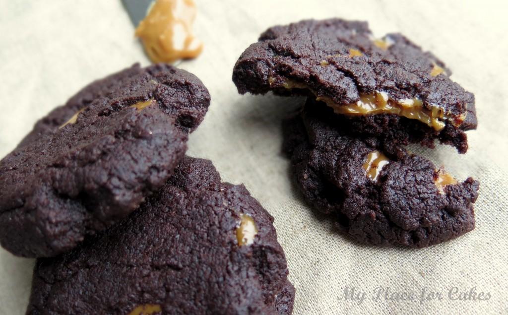 chokolade cookies med dulche leche