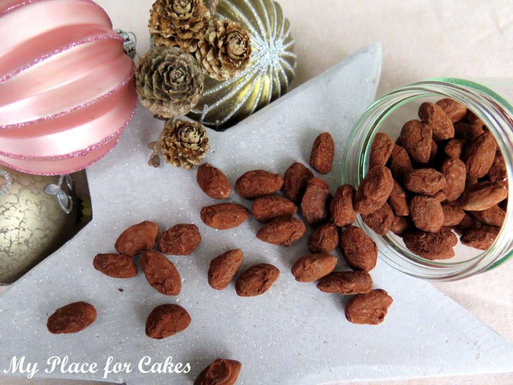 mandler med hvid chokolade og kanel-kakao